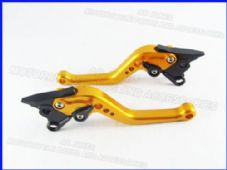 Aprilia CAPANORD (14-16), CNC levers short gold/black adjusters, DB80/DC80